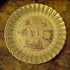 Vintage Nevada State souvenir plate points of interest