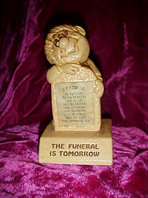 sillisculpts Paula figure,The Funeral is Tomorrow 1973