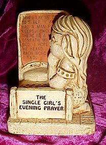 Vintage Paula figurine The Single girl's evening Prayer