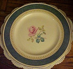 Burgess & Leigh Burleigh Ware dinner plate rose center