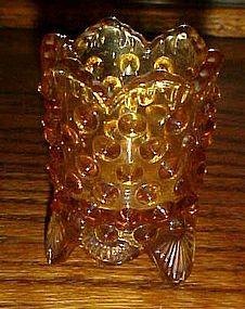 Fenton amber hobnail toothpick holder #3795