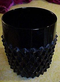 Indiana Tiara black cameo diamond point rocks tumbler