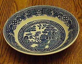 Swinnertons Blue Old Willow dessert bowl Staffordshire