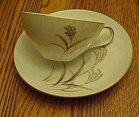 Harmony House Fine China Golden Wheat cup n' saucer