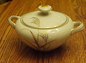 Harmony House Fine China Golden Wheat sugar bowl
