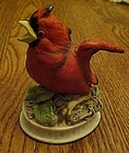 Lefton red baby cardinal bird figurine  KW 1637