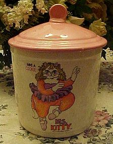 Ms. Kitty Ballerina cylinder cookie jar Earl Brody 1979
