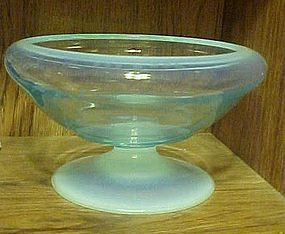 "Fostoria Seascape 8.5"" footed bowl Caribee blue"