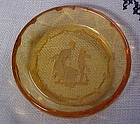 Czechoslovakia amber intaglio Classic cut salt dip