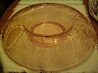 Cambridge pink oval medallion rolled console bowl #3065