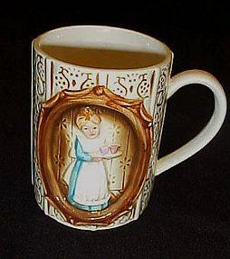 Sears Victorian Ladies in the kitchen ceramic  mug 1978