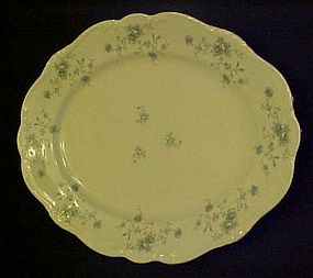 "Haviland Bavaria Blue Garland 12 4/8"" oval platter"