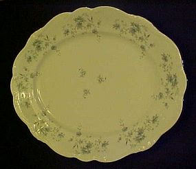 "Haviland Bavaria Blue Garland 14 3/4"" oval platter"