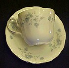 Haviland Bavaria Blue Garland flat cup and saucer