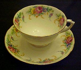 Tuscan bone china cup and saucer Garland pattern