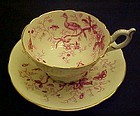 Coalport bone china Cairo cup and saucer set Pink