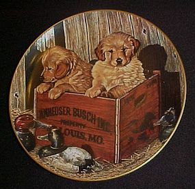 Budweiser Buddies plate Man's best friend collection