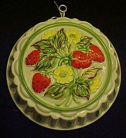 Gailstyn-Sutton Strawberries ceramic jello food mold