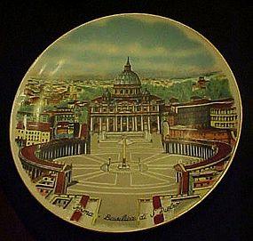 Winterling Roma Basilica Di S.Pietro souvenir plate