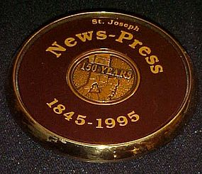 St Joseph News press 150 year anniversary paperweight