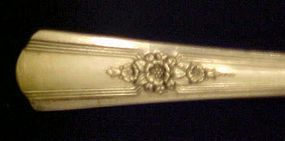 Wm Rogers IS Desire silver plate salad fork 1940