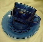 Indiana Colonial Blue Kings Crown cup n' saucer