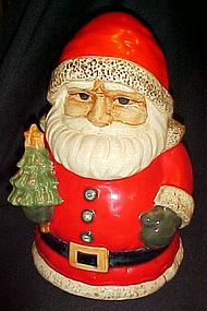 Russ Berrie Santa Claus cookie jar with tree Retired