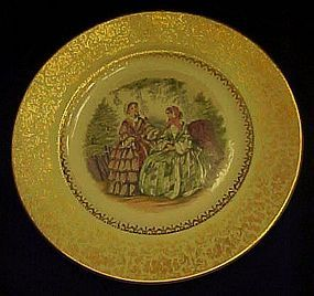 "Imperial Salem  10 3/4"" Service Plate Godey ladies"