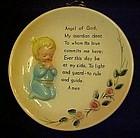 Vintage Lefton Angel of God prayer plate little boy