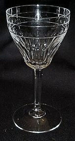 "Zermatt Cut Avon by Val St Lambert 5 1/2"" wine glass"