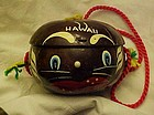 Vintage coconut souvenir purse black face native