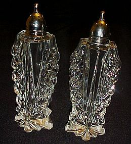 Prescut crystal salt and pepper shakers chrome tops