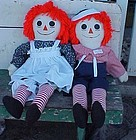 "Large  36"" Raggedy Ann and Andy Rag dolls"