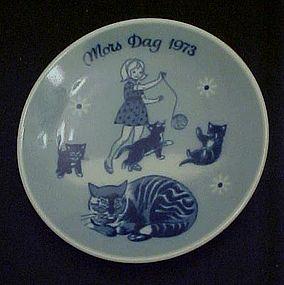 1973 Mors Dag limited ed delft plate Porsgrunds Norway