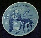 1976 Mors Dag limited ed  delft plate Porsgrunds Norway