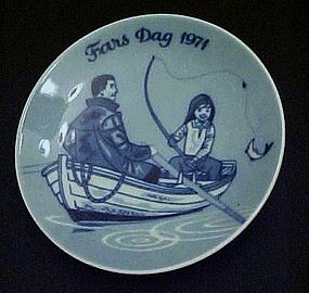 1971 Fars Dag limited ed  delft plate Porsgrunds Norway