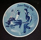 1974 Fars Dag Limited Ed delft  plate Porsgrunds Norway