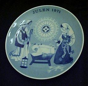 Julen 1971 Limited ed delft plate Porsgrund Norway