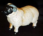 Cast iron painted sheep figurine