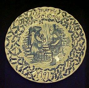 Royal Crownford Christmas 1991 Staffordshire Plate