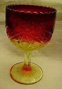 Viking amberina Yesteryear large chalice