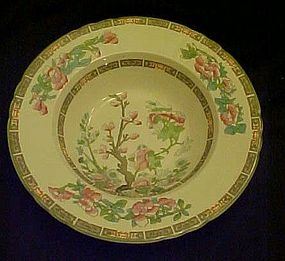 Myott Staffordshire  Indian tree rimmed soup bowl 8""