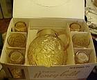 Anchor Hocking Honey gold Lido beverage set in  box