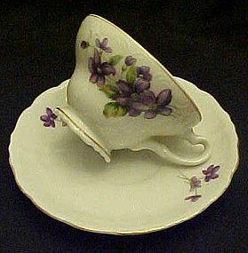 Vintage Japan Violets tea cup and saucer