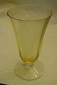 Fostoria Topaz optic bowl  iced tea/parfait  5099/5299