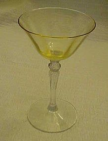 Fostoria topaz optic bowl clear stem wine glass 5099