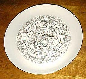 Vintage 1963 Zodiac calendar plate