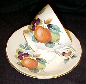 Royal Vale ripe fruit cup and saucer #8225