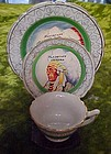 Souvenir Indian Chief mini cup plate and saucer set