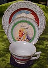 Old souvenir Indian Chief mini plate cup and saucer set